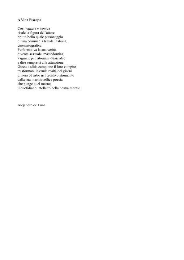 "A Vinz Piscopo ""parte1"""
