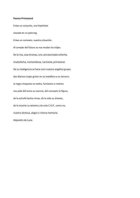 Poema Primaveral